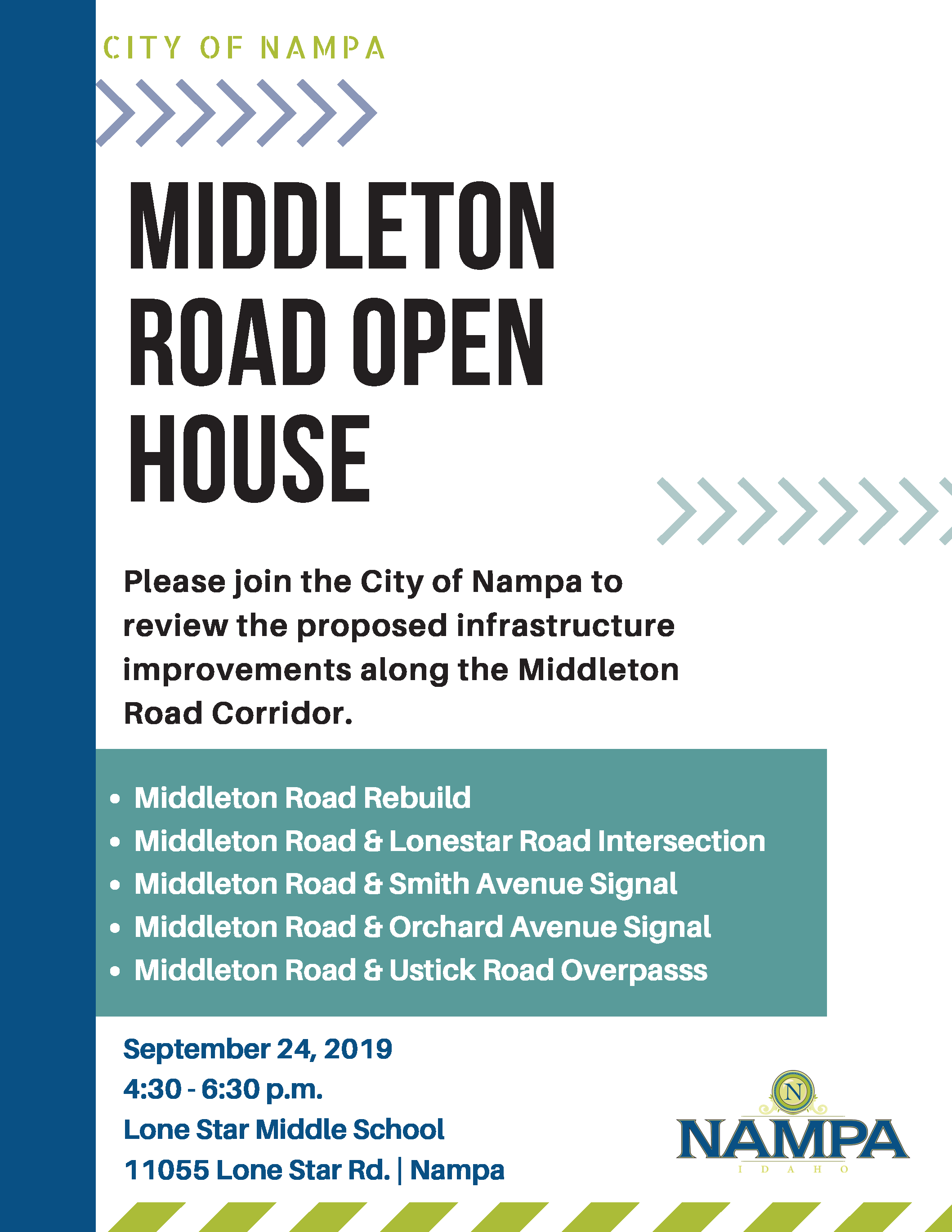 Middleton Open House Flyer Sept 24 2019