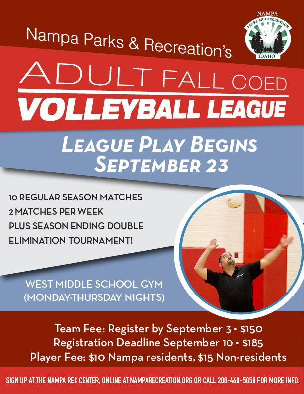 Fall Coed Adult Volleyball 2019_eflyer