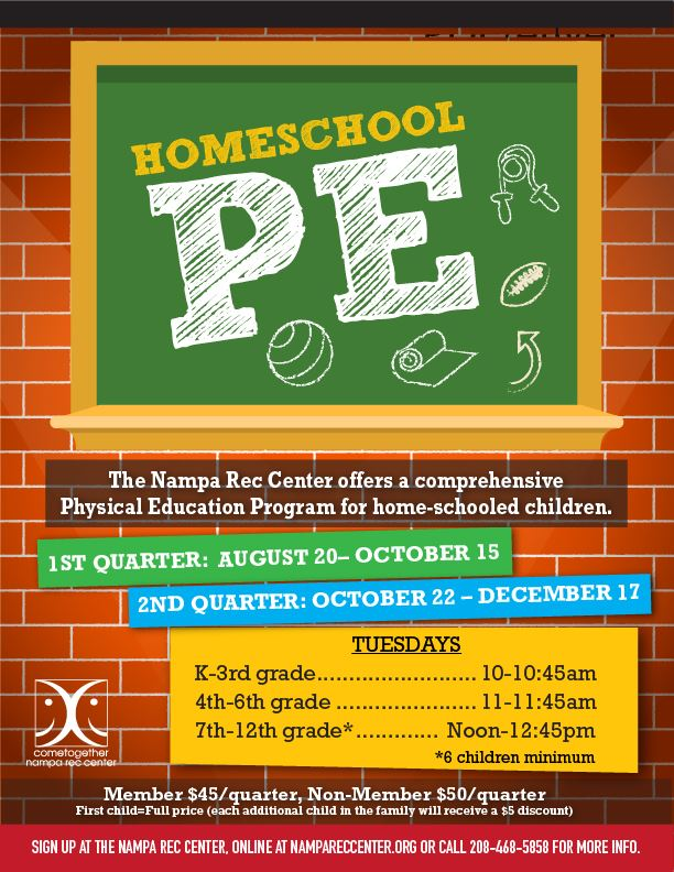 Homeschool PE 0819_eflyer