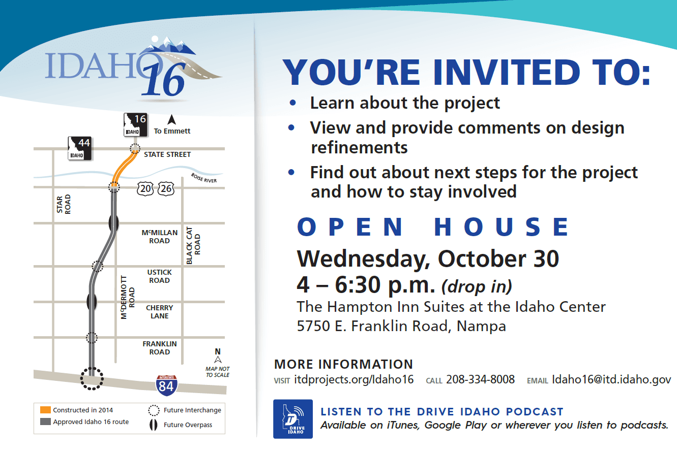 Hwy 16 open house Oct 30