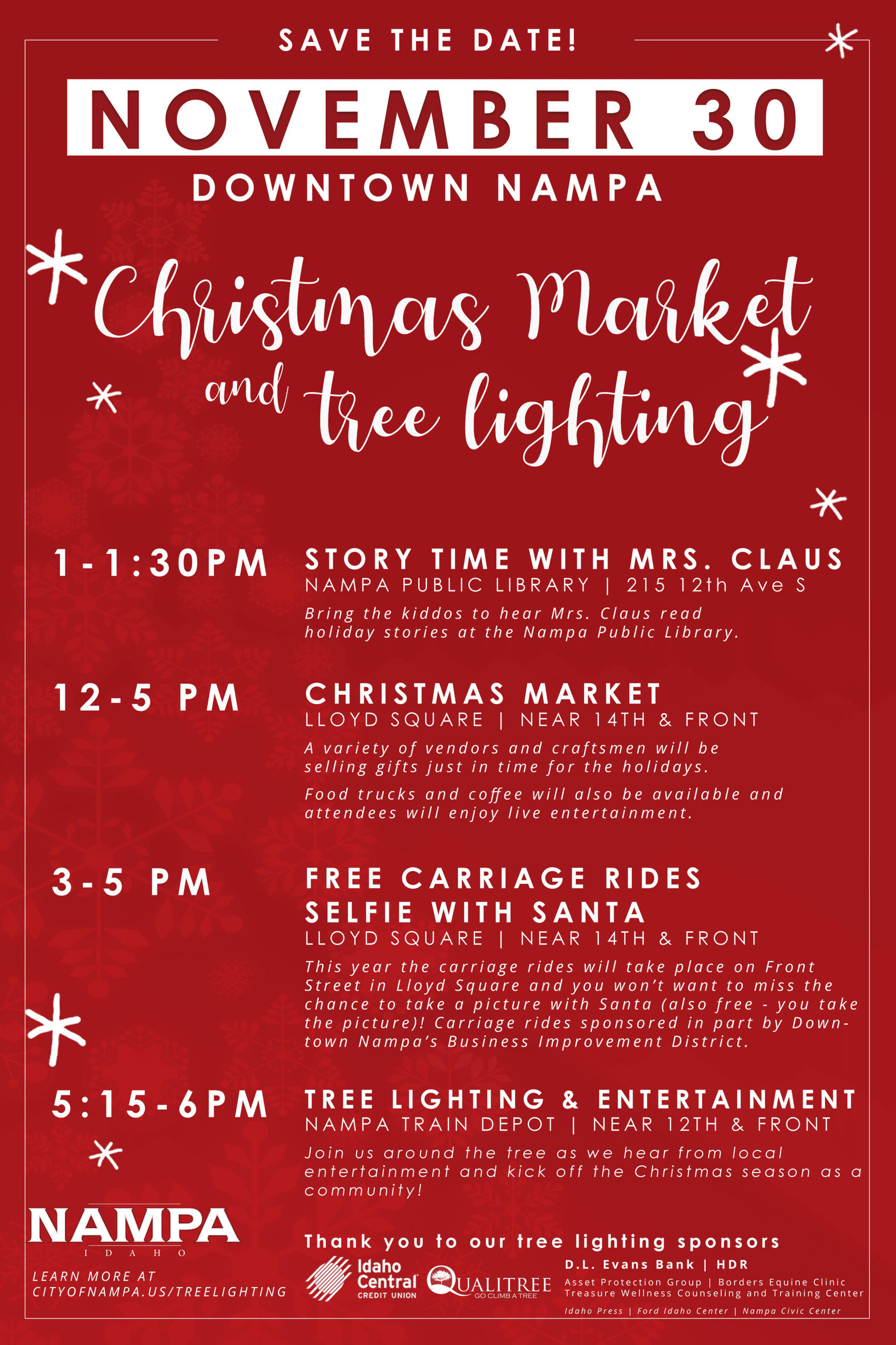 Christmas Market and Tree Lighting Save the date