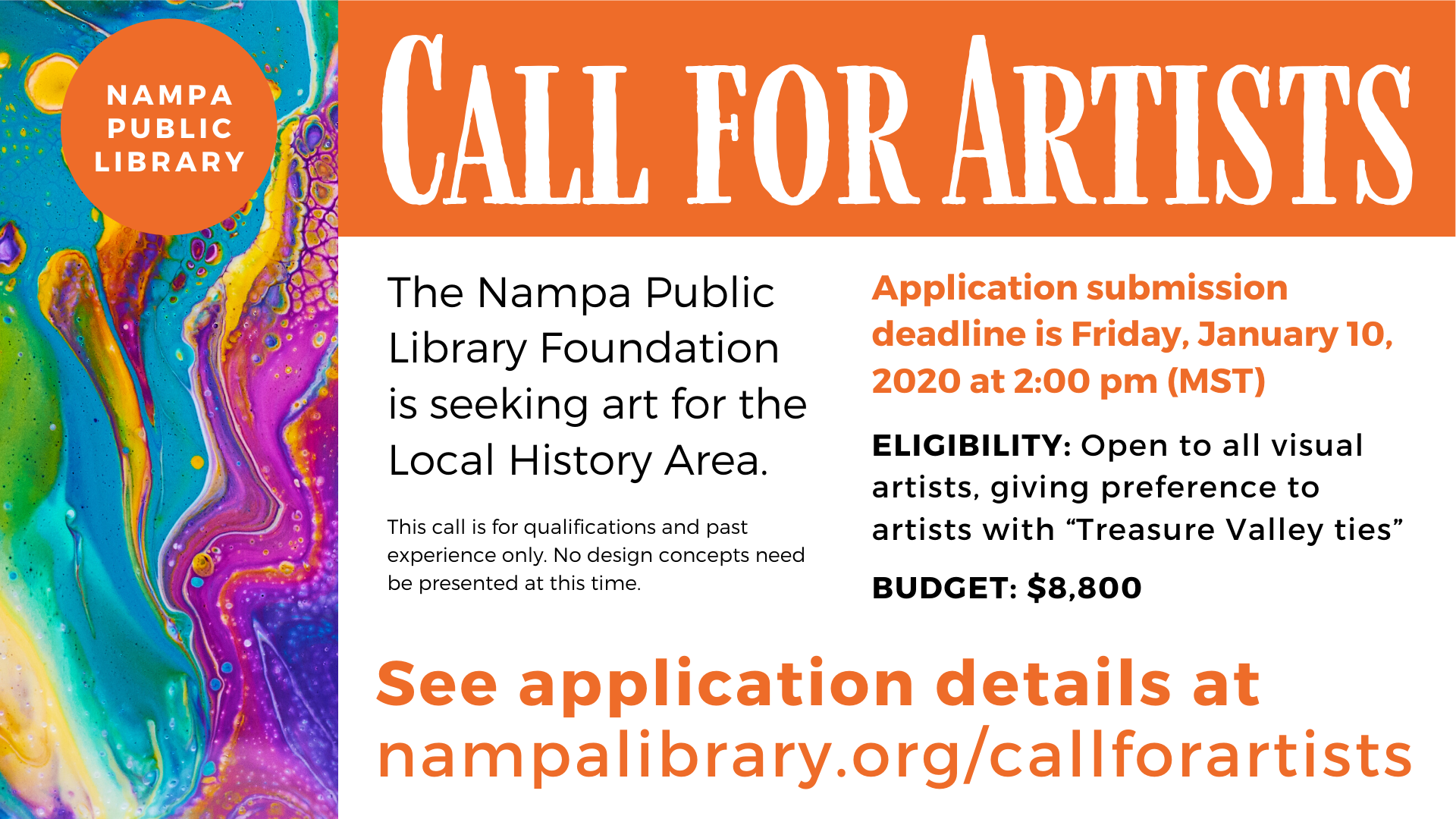 Nampa Public Library Call for Artists