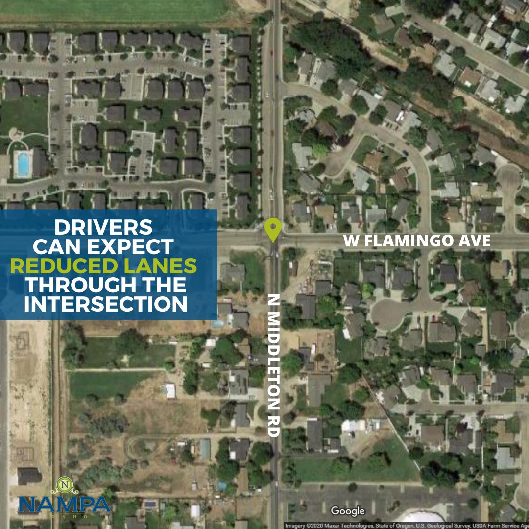 Map showing Middleton and Flamingo intersection