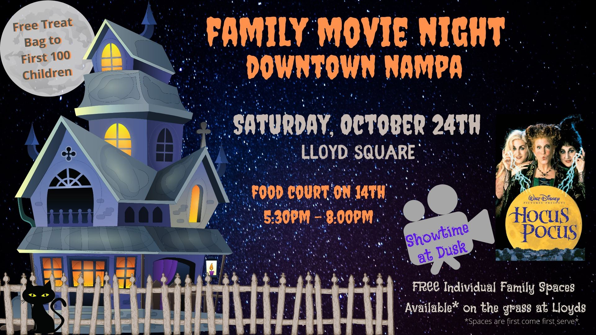 10082020 Downtown Nampas Halloween movie in Lloyd Square Oct 24
