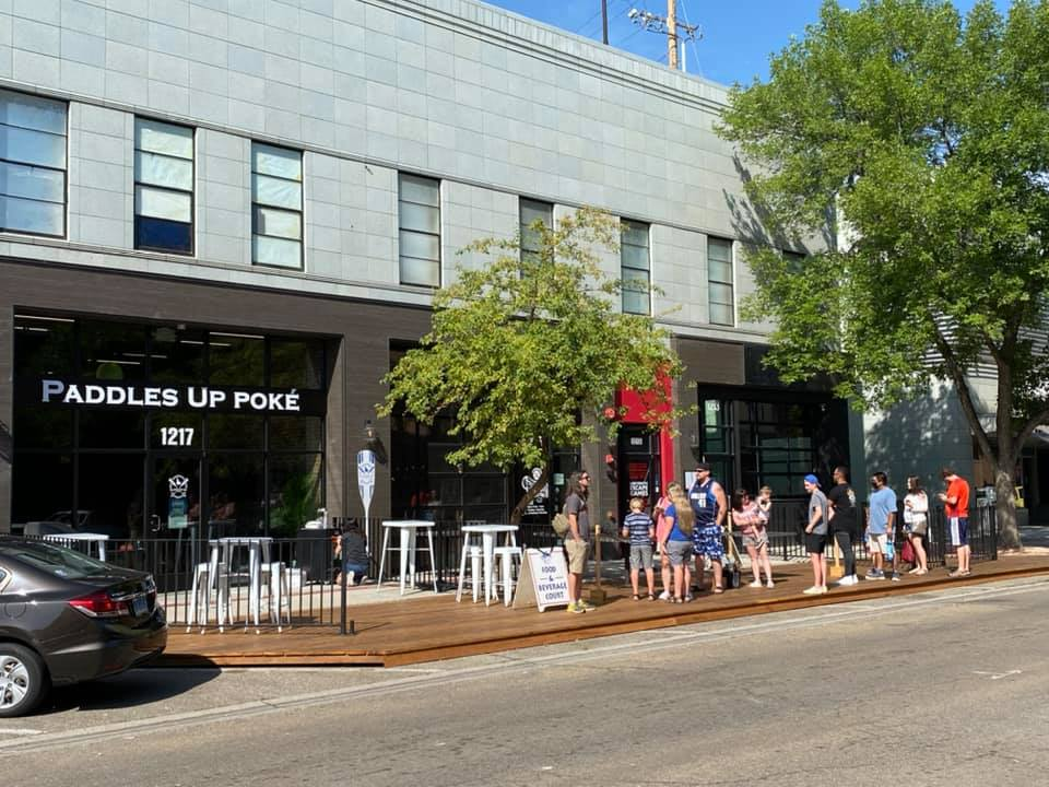 Downtown Nampa temporary sidewalk extension to be made permanent