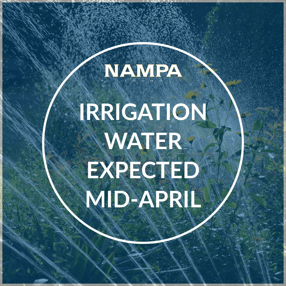 Nampa irrigation water expected mid-April