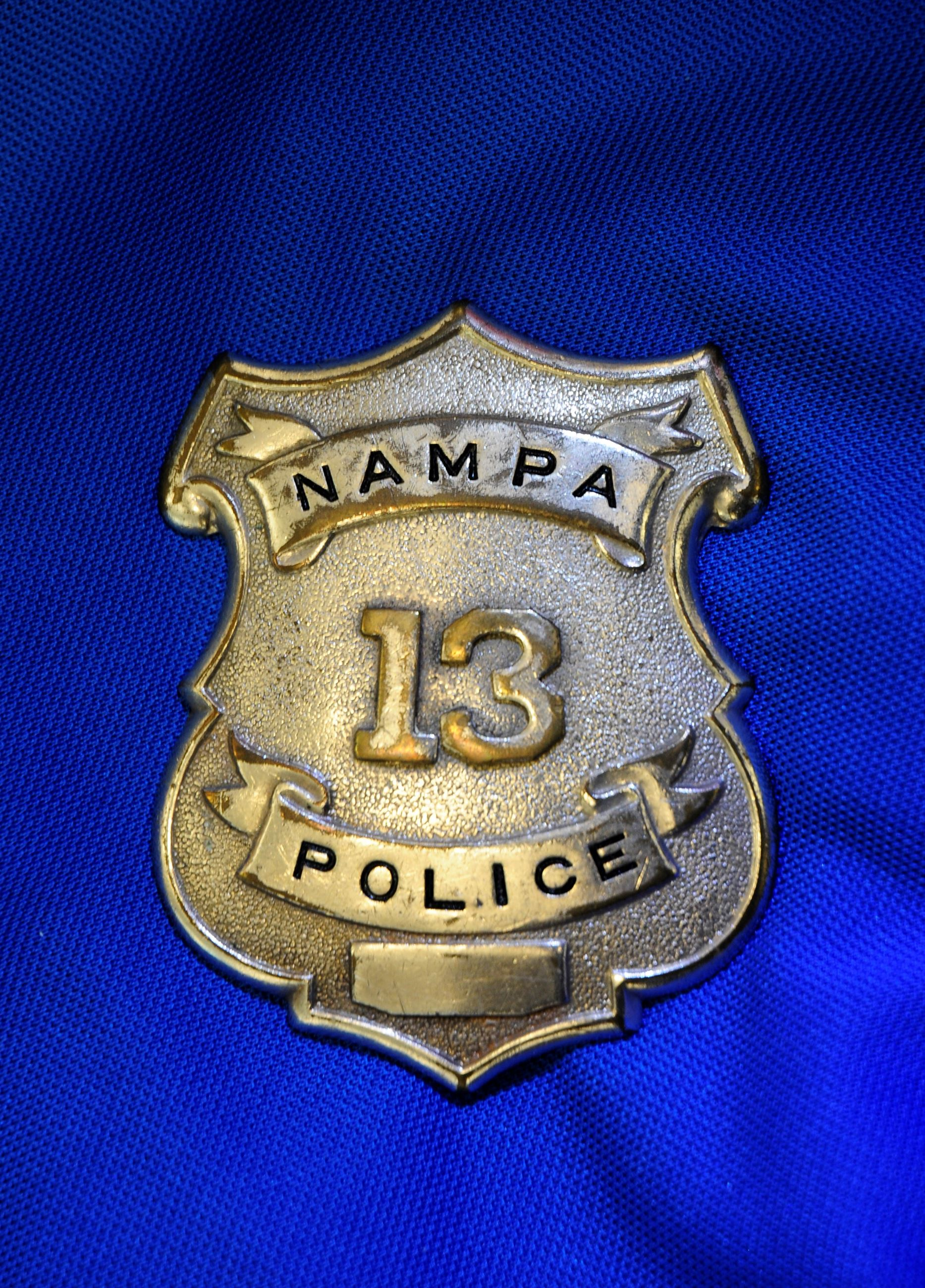 Nampa Police badge (believed to be first style adopted by dept)