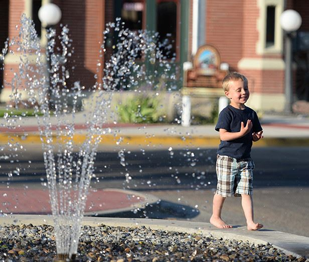 Child on Fountain
