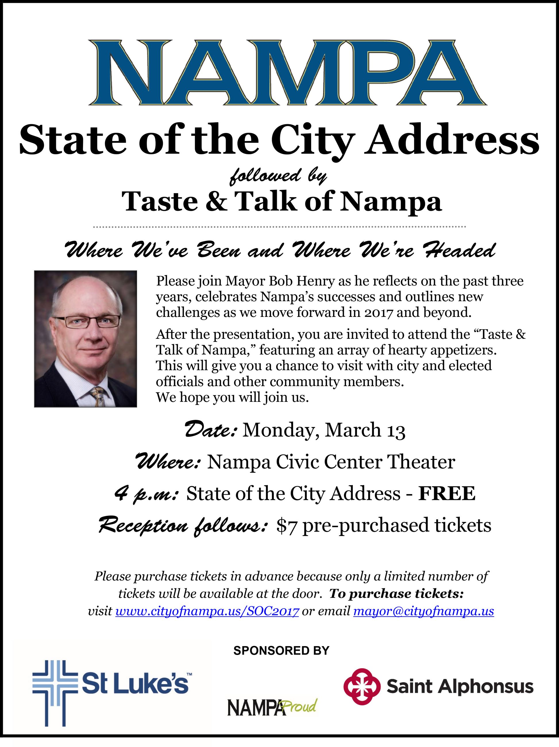 2017 State of the City Invitation