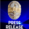 Nampa Police press release logo with Nampa Police badge on a black and blue background