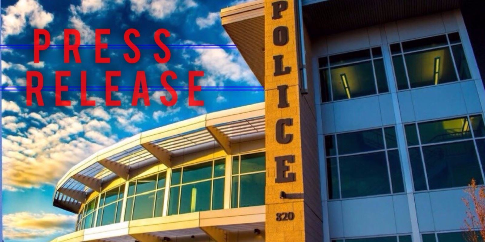 Nampa Police press release logo with picture of Hugh Nichols public safety building