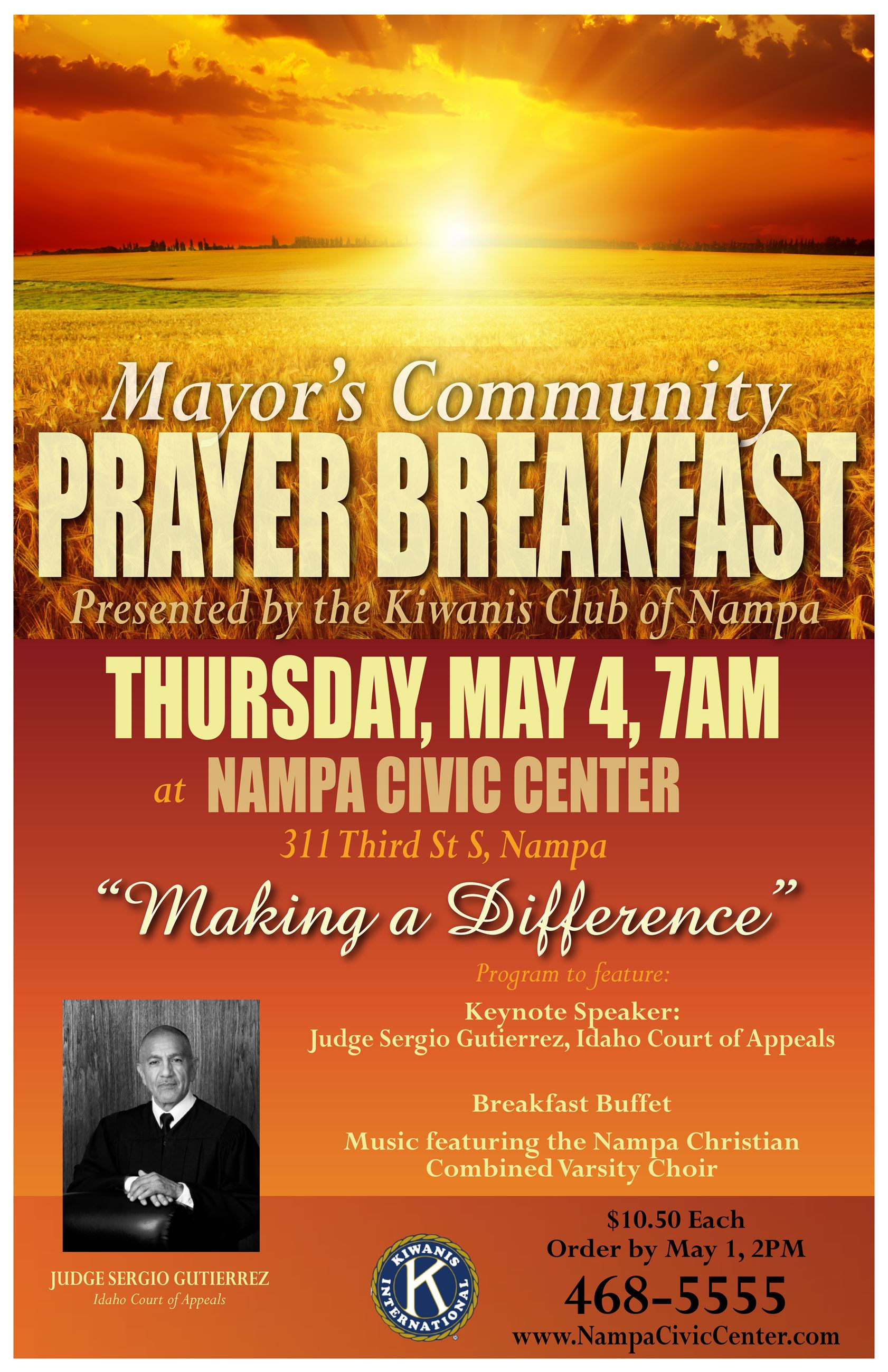 Mayor's Community Prayer Breakfast poster 2017