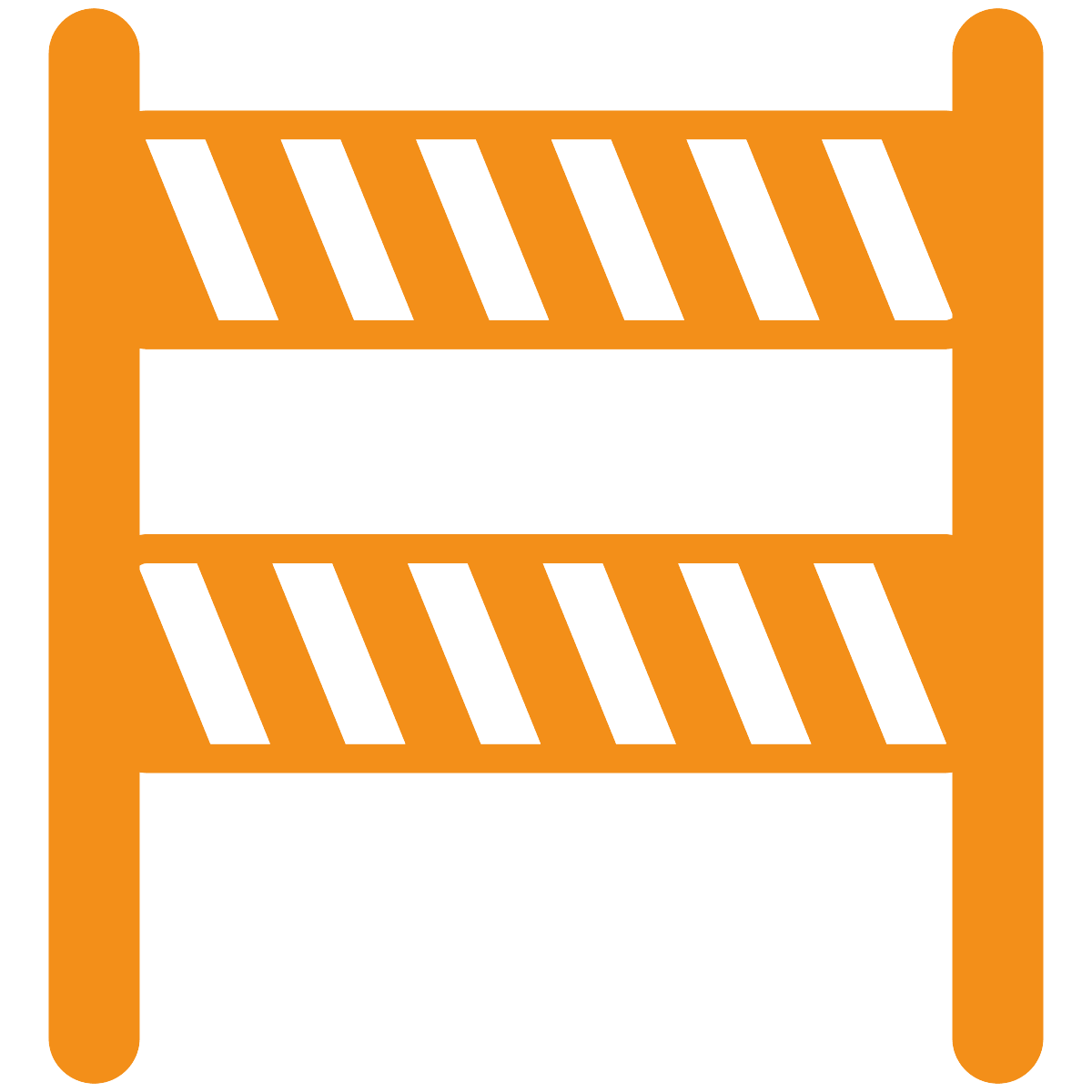 Orange traffic barrier