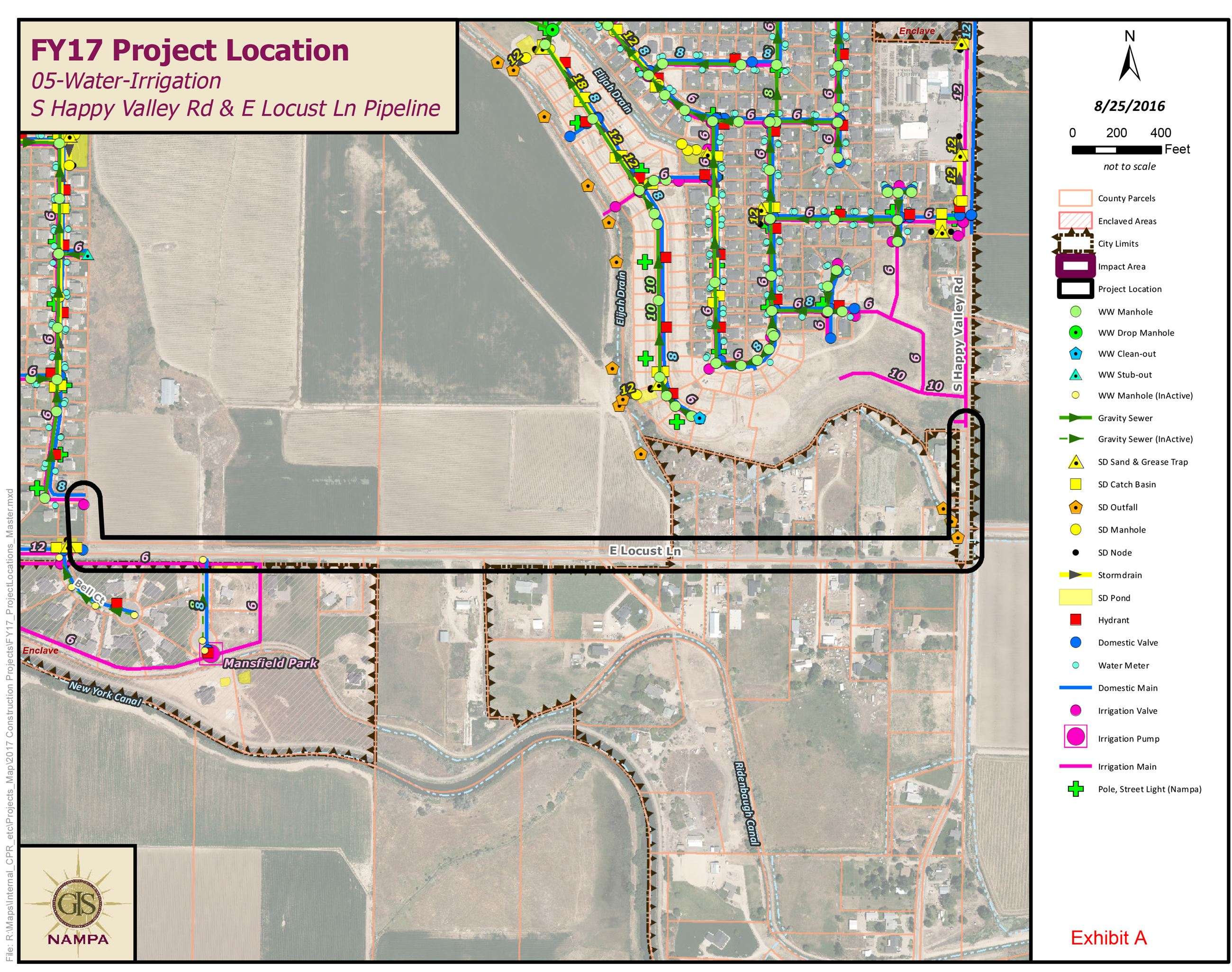 Nampa Irrigation Pipeline Project - Locust Lane