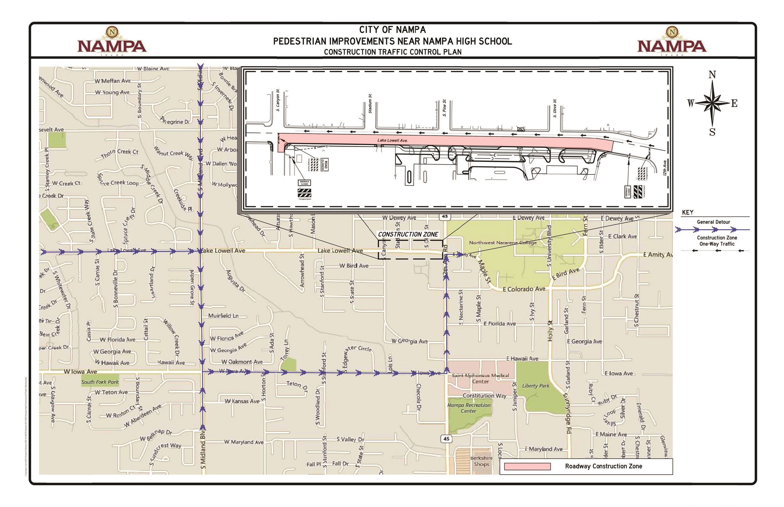 Nampa High Construction Traffic Control Plan