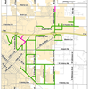 Map showing locations for chip sealing in Nampa
