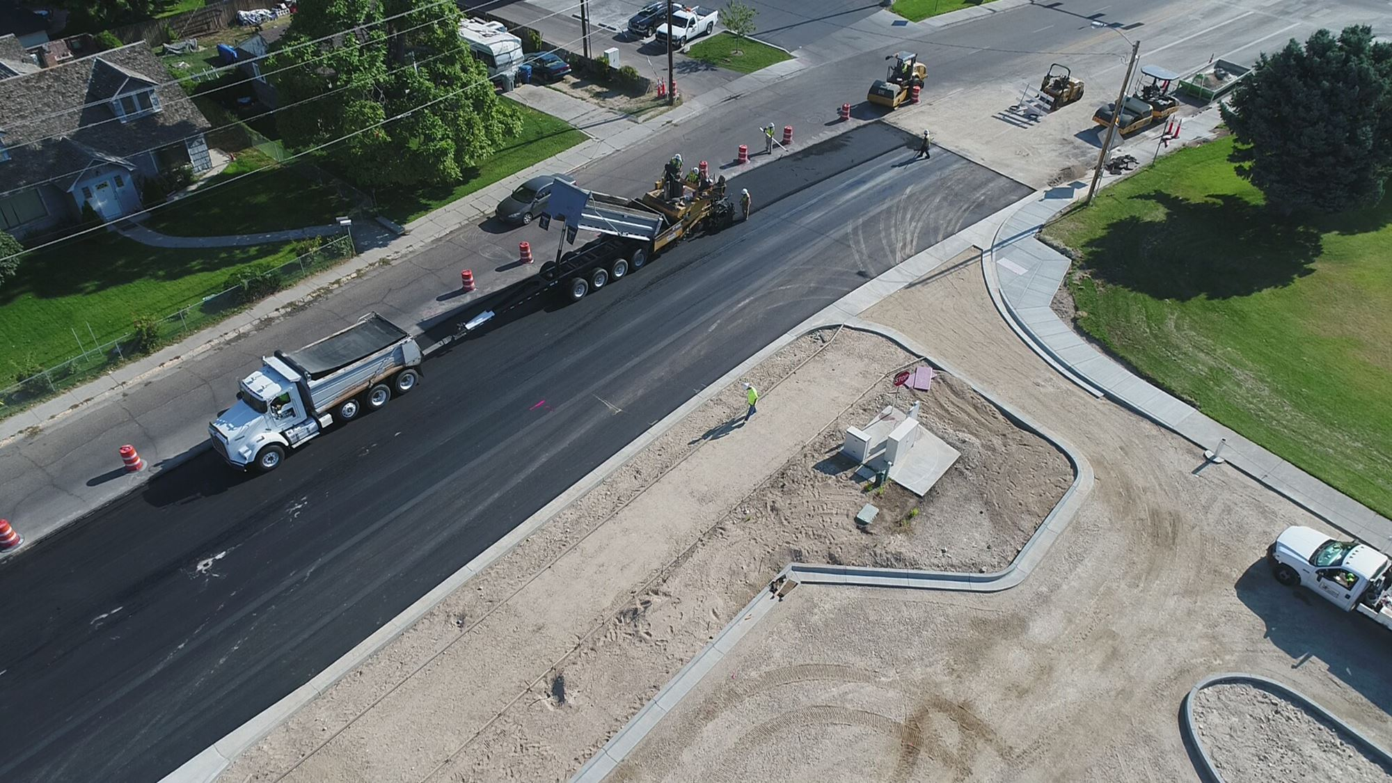 Nampa High School construction project photo by City of Nampa