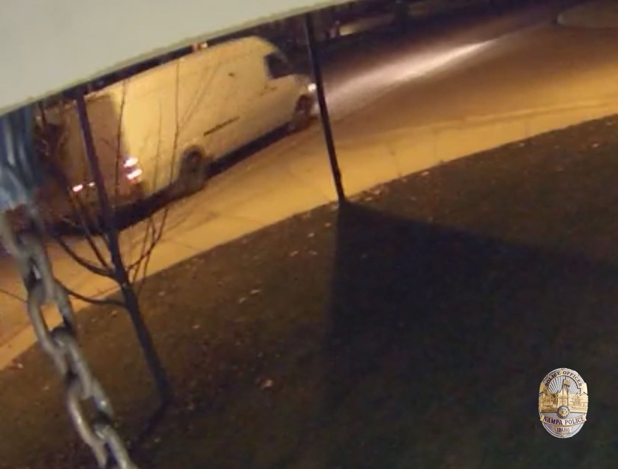 Photo of suspect white delivery van taken from surveillance cameras