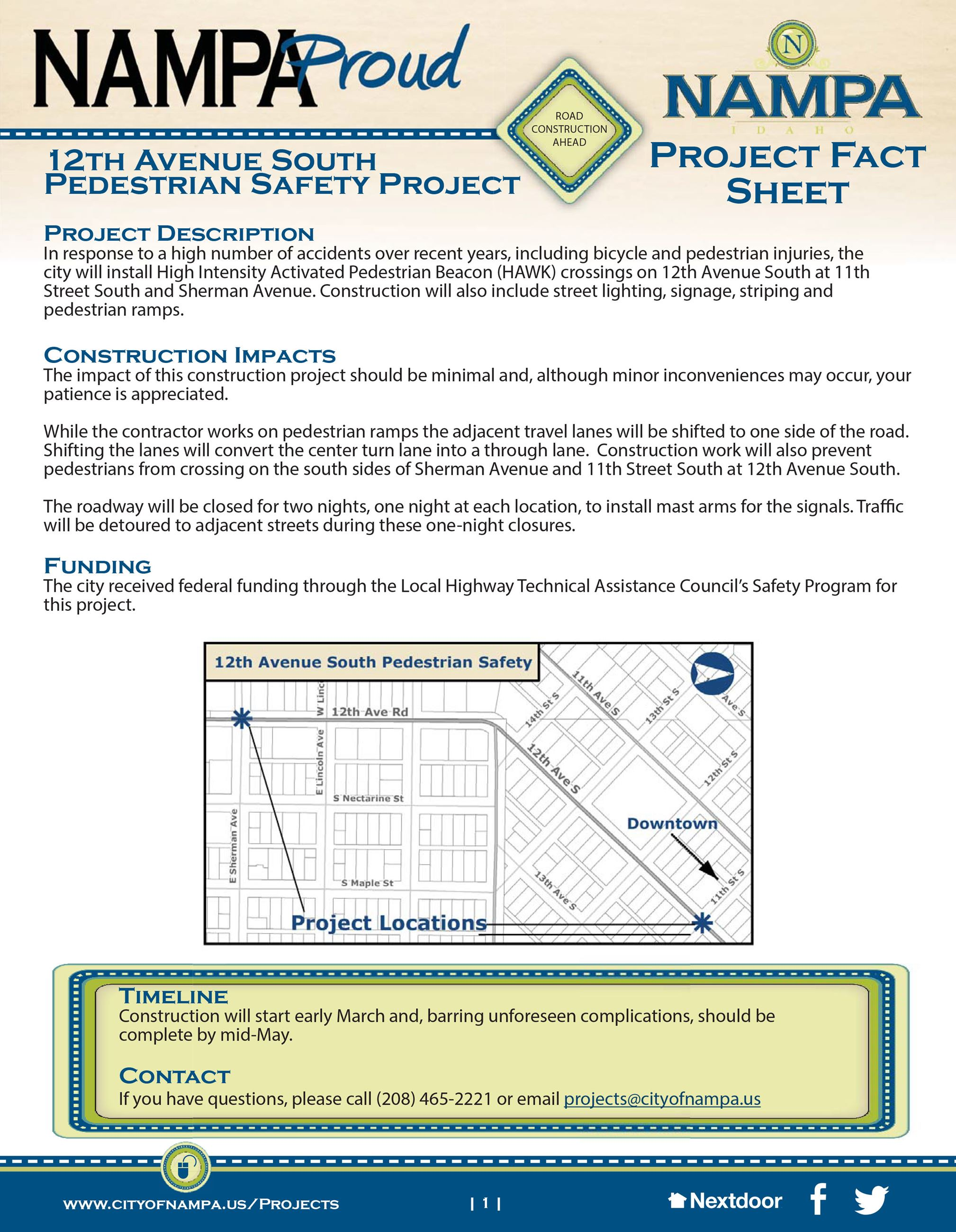 12th Ave S Flyer Pedestrian Safety Improvements