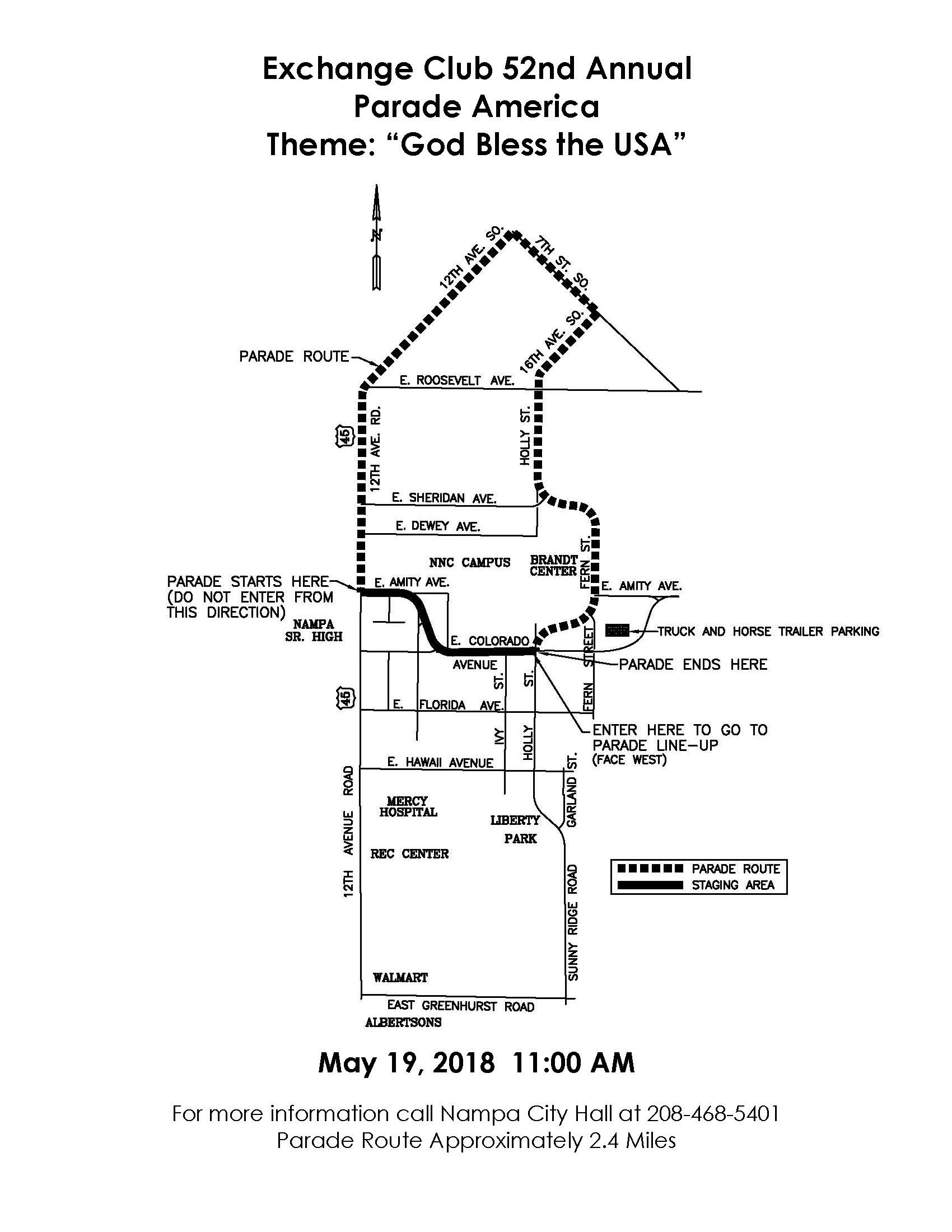 Parade Map 2018 Snake River Stampede