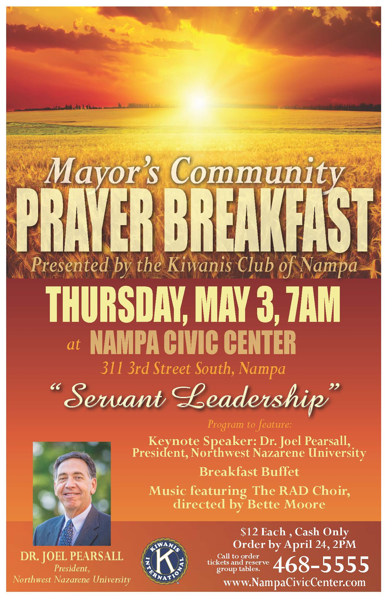 Mayor Debbie Kling Prayer Breakfast - presented by Kiwanis Club of Nampa