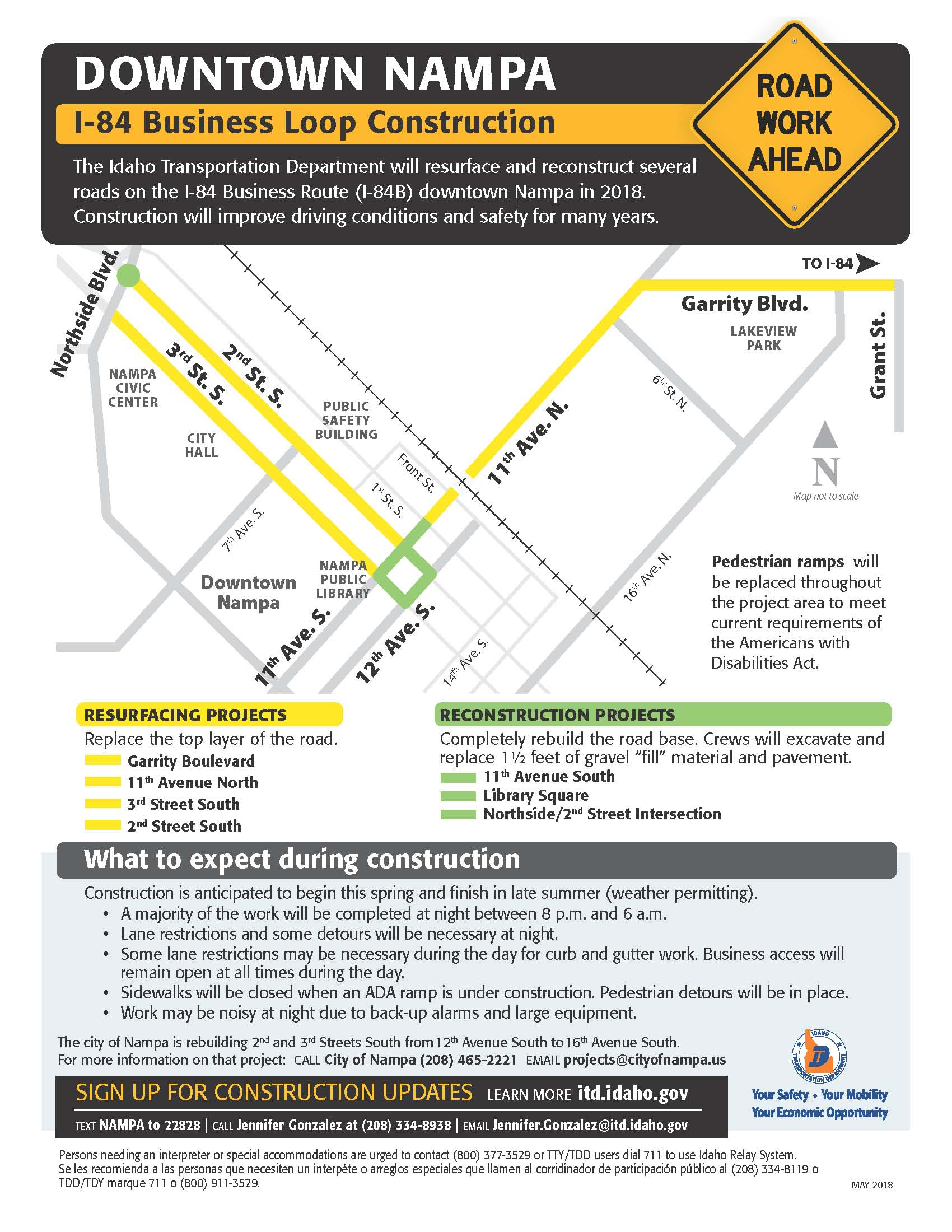 I84 Business Loop Fact Sheet