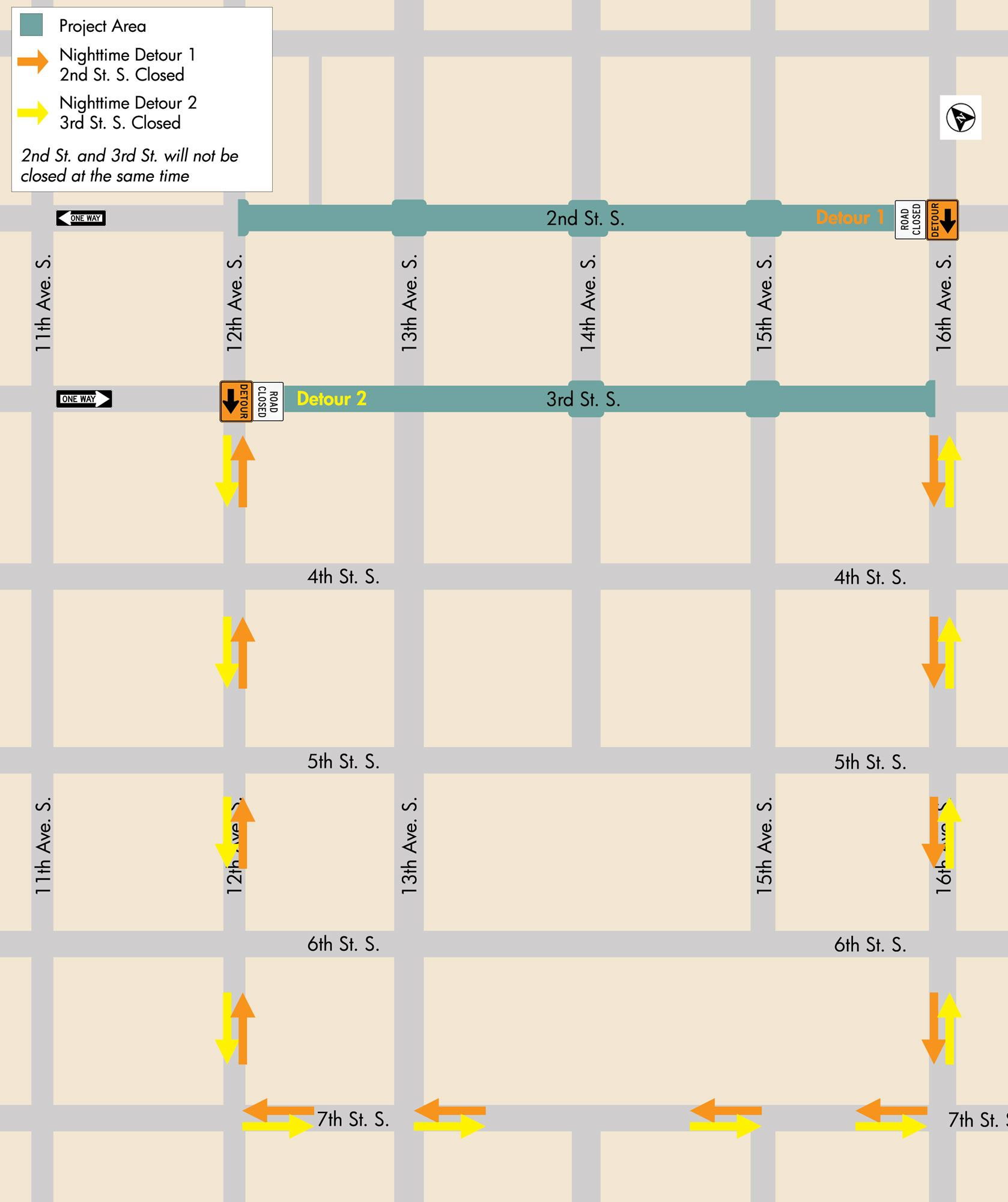 Downtown-Map---nighttime-detours (060518)