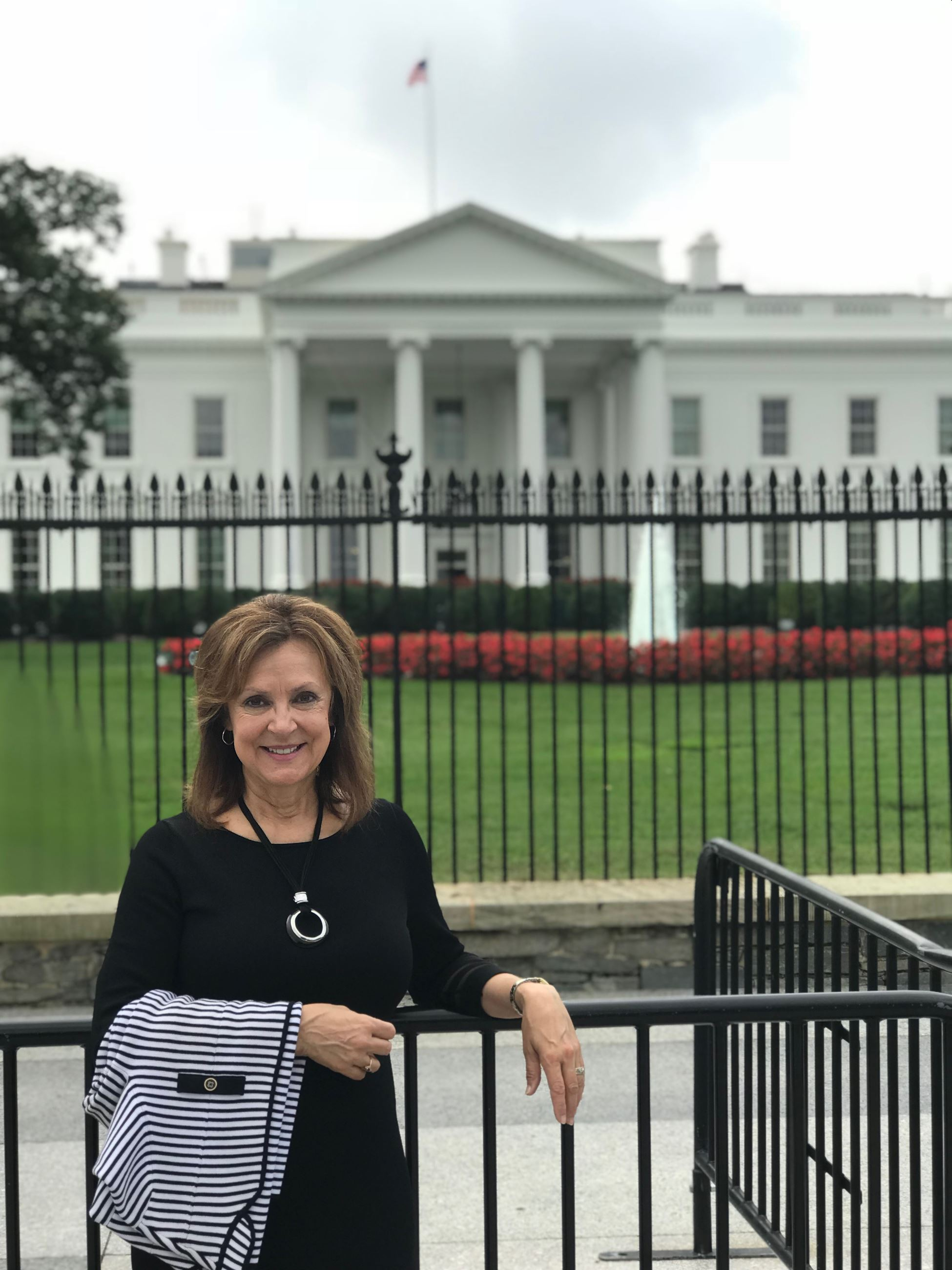 Mayor Kling pictured outside the White House in Washington DC