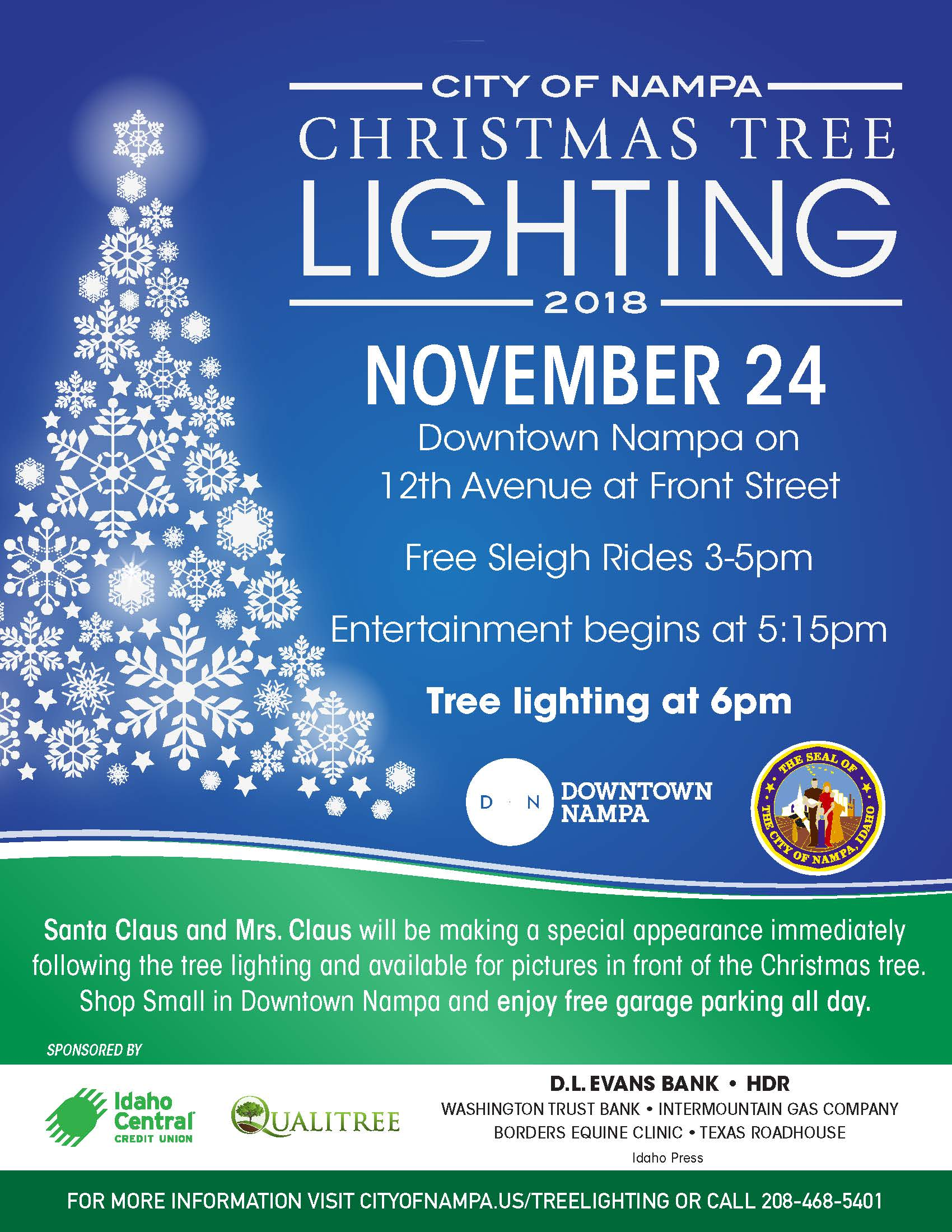 Tree Lights On University Avenue Are >> Christmas Tree Lighting Nampa Id Official Website