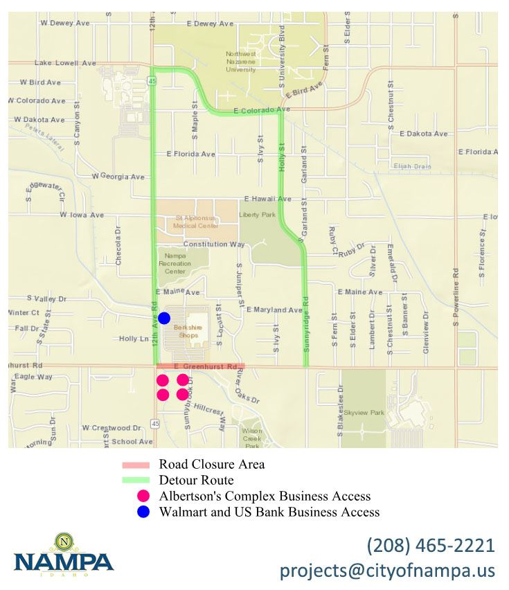 Greenhurst Road Rebuild map2
