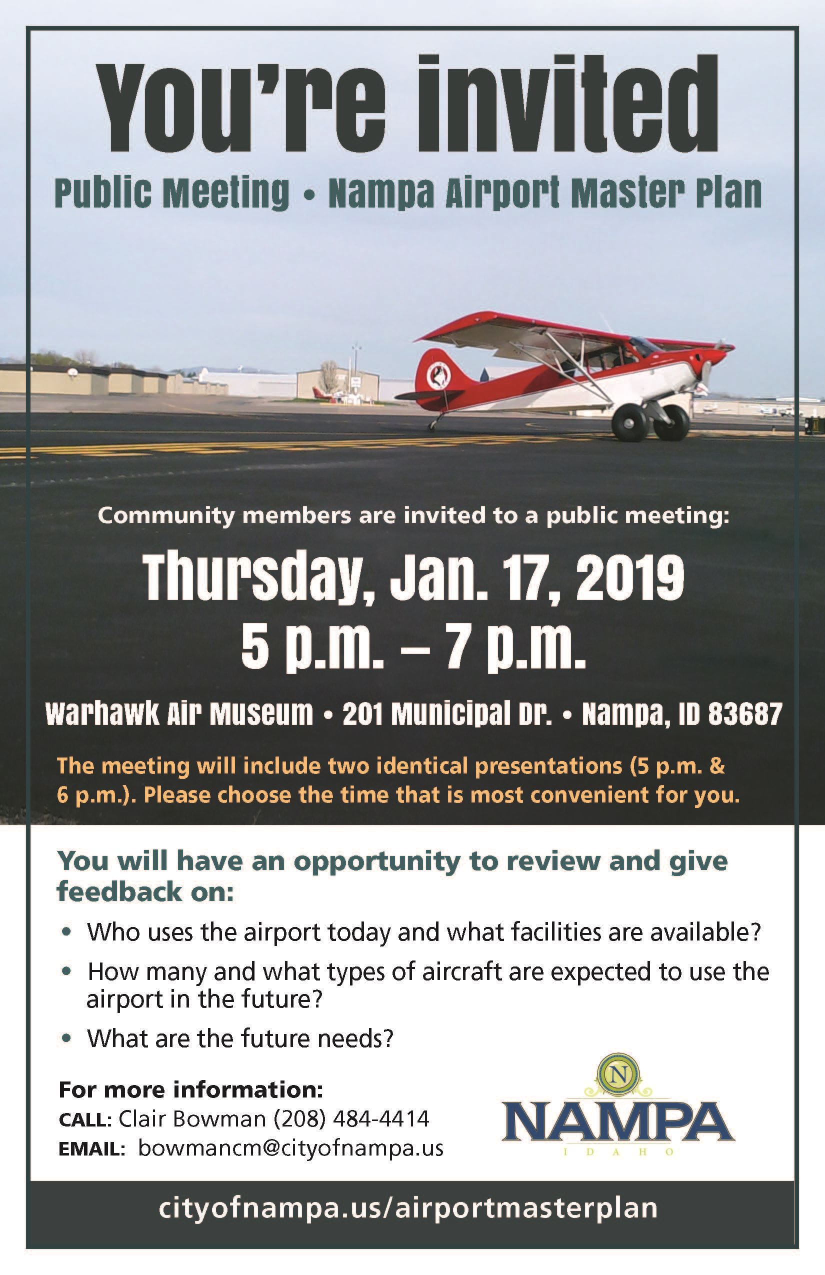 Nampa Airport Master Plan Meeting 01172019