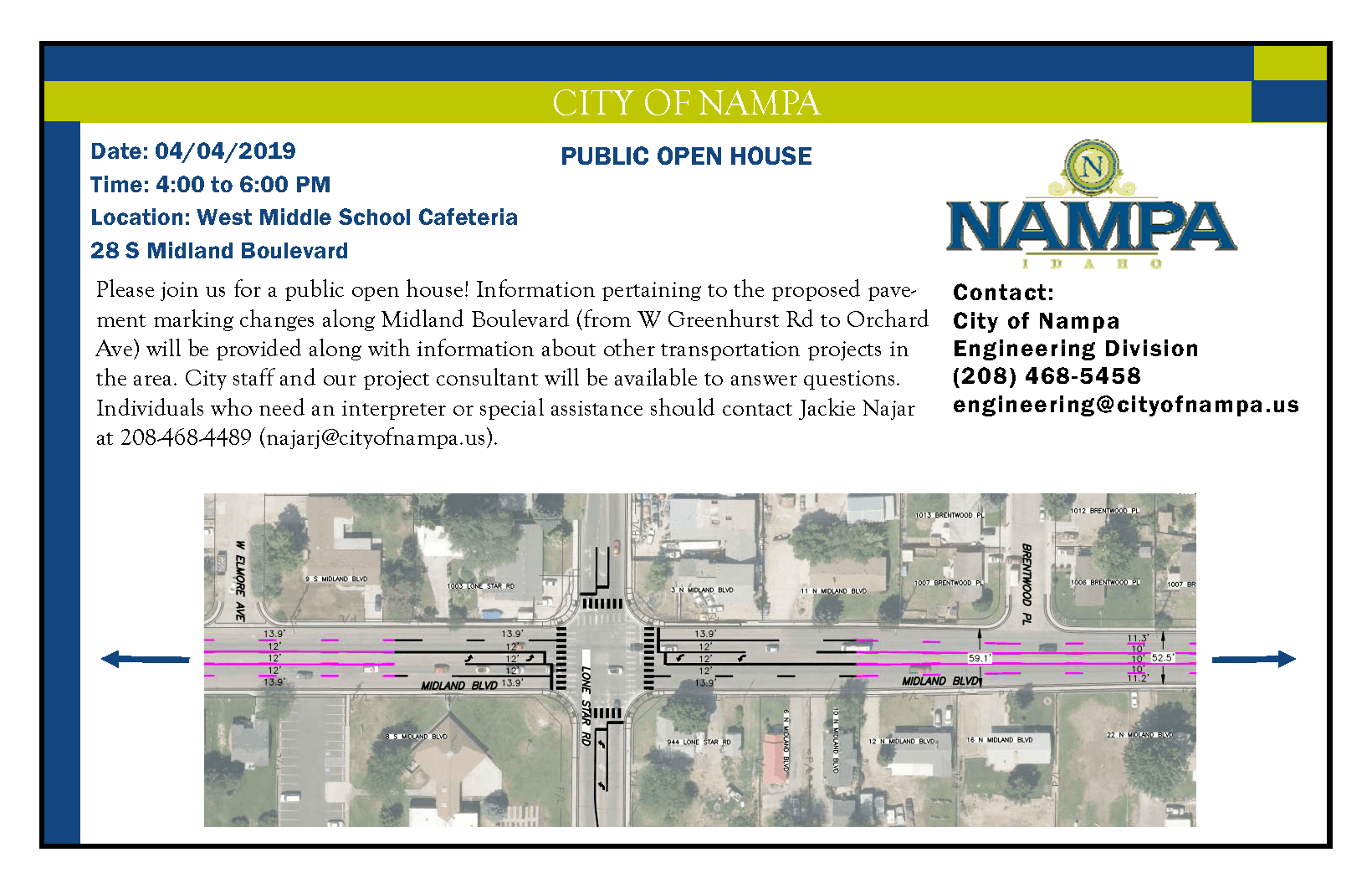 Midland Boulevard Open House Post Card