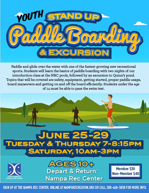 Youth Stand Up Paddle Boarding 2019_eflyer
