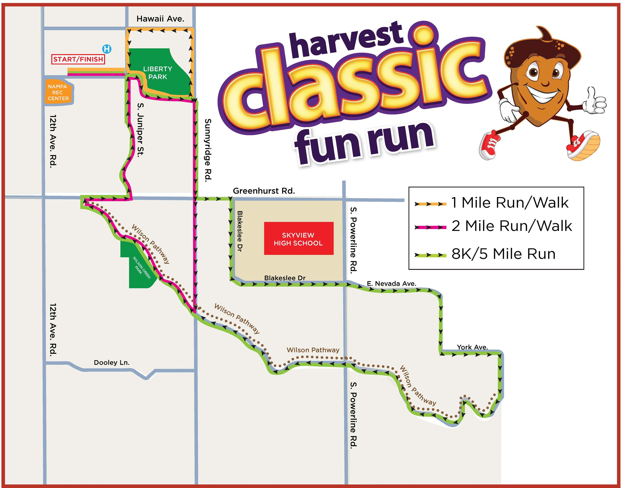 Harvest Classic Route Map 2019